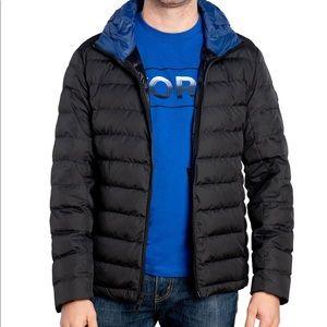 Michael Kors black men's Dow puffer jacket. Size L